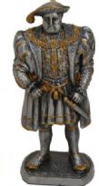 Medieval Pewter Statue - King Henry VIII